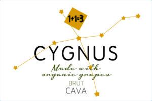 1+1=3 CYGNUS Cava Brut Organic Sparkling Wine NV