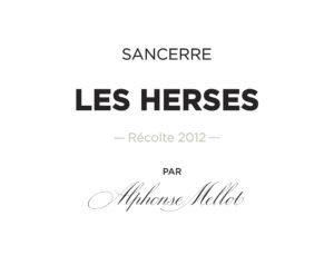 Alphonse Mellot Sancerre BLANC Les Herses 2014
