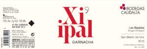 Bodegas Caudalia Xi ipal Garnacha 2015
