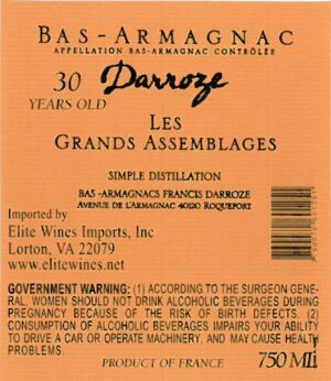 Francis Darroze Armagnac Les Grands Assemblages 30 year old