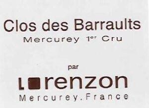 Bruno Lorenzon Mercurey 1er Cru Clos Barraults BLANC 2014