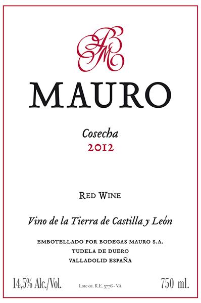 Bodegas Mauro VT Castilla y Leon Red 2015