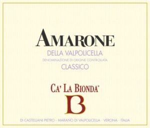 Ca La Bionda Amarone Classico doc Rosso 2015