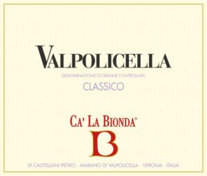 Ca La Bionda Valpolicella Classico doc Rosso 2019