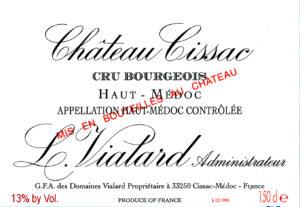 Chateau Cissac Cru Borgeois Haut Medoc 2000
