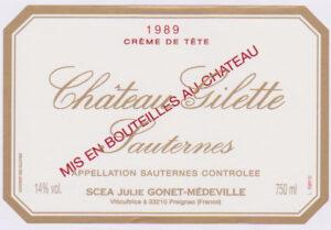 Chateau Gilette Creme de Tete Sauternes 1997