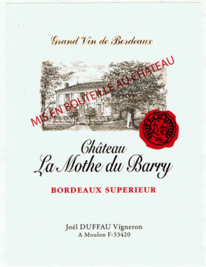 Chateau La Mothe du Barry Rouge Bordeaux Superieur 17 375ML