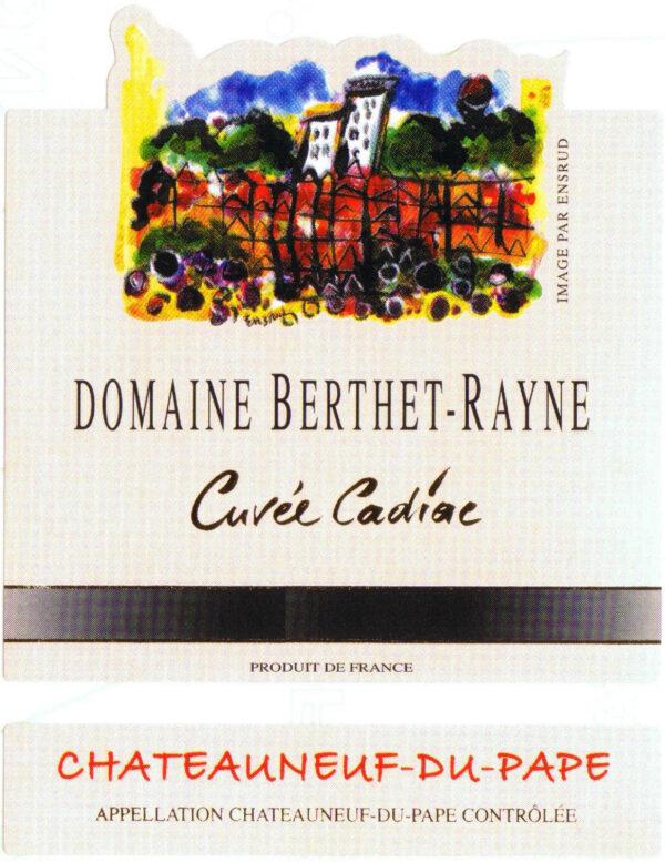 Domaine Berthet-Rayne Chateauneuf du Pape Cuvee Cadiac 2016