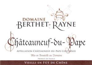 Domaine Berthet-Rayne Chateauneuf du Pape Futs de Chene 2016