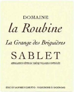 Domaine La Roubine Sablet Cotes du Rhone Villages 2018