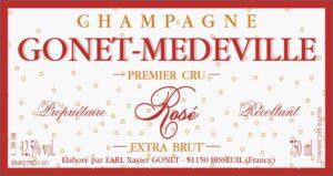 Gonet-Medeville Champagne Premier Cru Extra Brut Rose NV
