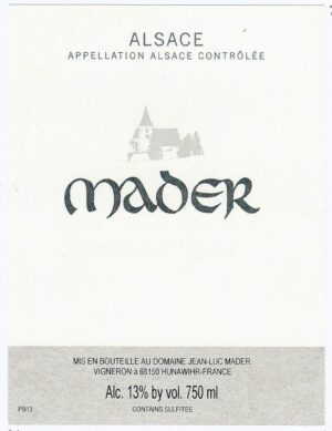 Jean Luc Mader Riesling 2018
