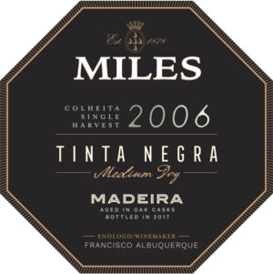 Miles Madeira Colheita Single Harvest Tinta Negra Medium Dry 500ML 2006