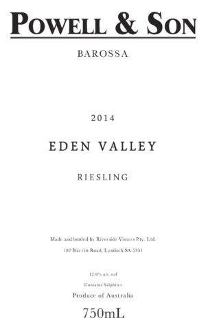 Powell and Son Eden Valley Riesling