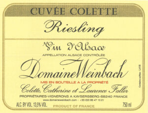 Weinbach Riesling Cuvee Colette 2017
