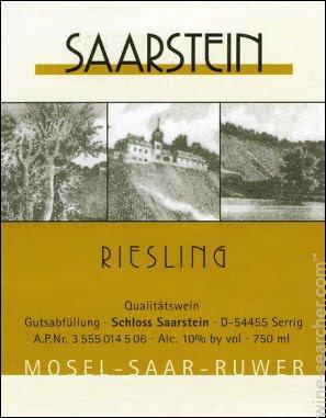 Weingut Schloss Saarstein Riesling QBA Qualitatswein 17 SA9-15