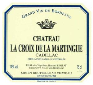 Chateau La Croix de la Martinque Cadillac Sweet 2016