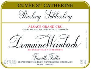 Weinbach Riesling Grand Cru Schlossberg Cuvee Ste. Catherine 2018