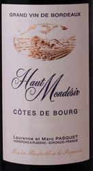 Haut Mondesir Cotes de Bourg 2011