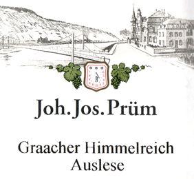 Joh. Jos. Prum Graacher Himmelreich Riesling Auslese Gold Cap 14 JJ20-14 375ML