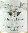 Joh. Jos. Prum Graacher Himmelreich Riesling Auslese Gold Cap 17 JJ20-14 375ML