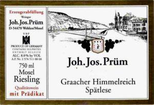 Joh. Jos. Prum Graacher Himmelreich Riesling Spatlese 16 JJ6-16