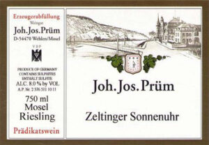 Joh. Jos. Prum Zeltinger Sonnenuhr Riesling Spatlese 17 JJ14-16
