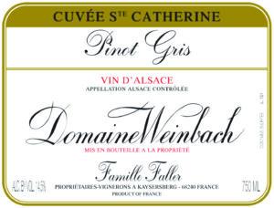 Weinbach Pinot Gris Cuvee Ste. Catherine 2018