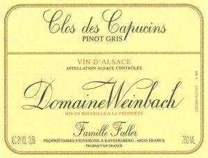 Weinbach Pinot Gris Clos des Capucins 2018