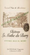 Chateau La Mothe du Barry Entre Deux Mers 375ML 2018