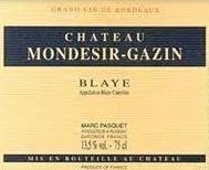 Chateau Mondesir-Gazin Blaye 2016