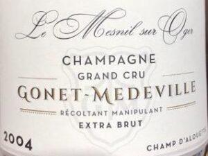 Gonet-Medeville Champagne Brut Grand Cru Champ d Alouette le Mesnil sur oger 2004