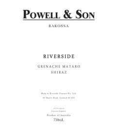 Powell and Son RIVERSIDE Grenache Mataro Shiraz 2017
