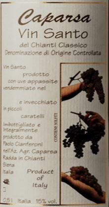 Caparsa Vin Santo DOC del Chianti Classico  500ML 1998