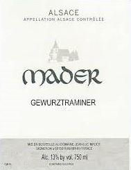 Jean Luc Mader Gewurztraminer 2018