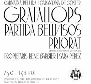Partida Bellvisos Priorat Gratallops Rouge 1.5L 2006