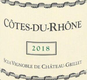 Cotes du Rhone de Chateau Grillet 2018