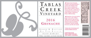 Tablas Creek Grenache Paso Robles 2016