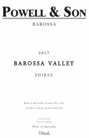 Powell and Son Barossa Valley Shiraz 2017