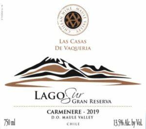 Las Casas De Vaqueria Lago Sur Gran Reserva Carmenere 2019
